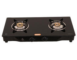 Magna Homewares black Mac Glass Top 2 Burners Gas Stove-automatic, Sam