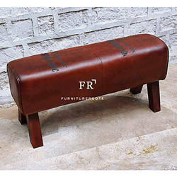Leather Hassock - Indian Reclaimed Furniture Stools