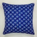 Indigo Blue Cotton Hand Block Cushion Covers