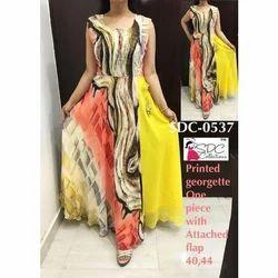 Ladies Georgette Printed Gown