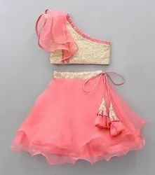 Wedding Wear Party Wear Kids Skirt