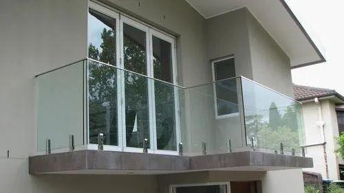 Bar Balcony Glass Railing, For Home, Office