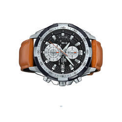 Brown Leather Imported Wrist Watch