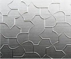 Designer Figured Glass, For Wardrobes, Thickness: 3.5mm