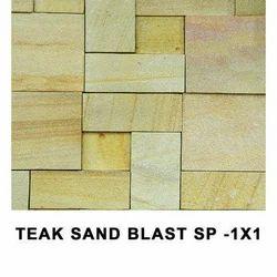 Teak Sandblast Wall Cladding