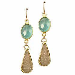 Ladies Designer Stone Earring