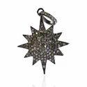 Pave Diamond Sunburst Pendant