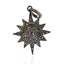 Pave Diamond Sunburst Pendant