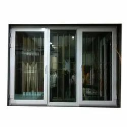 Dimex Toughened Glass UPVC Center Fix Sliding Door, 10-12 Mm