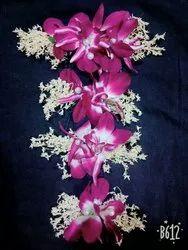 Purple Flowers hair brooch