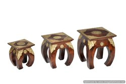 Wooden Nested  Stool