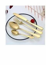 home arts Brass Gold cutlery, For Restaurant