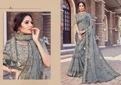 Ladies Linen Saree Length: 5.5 m