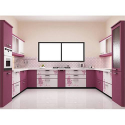 Modern U Shape U Shaped Modular Kitchen, Kitchen Cabinets