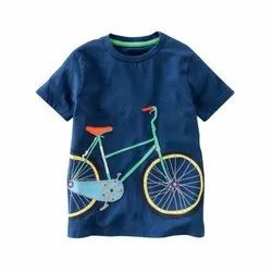 Casual Wear Round Kids Printed T Shirt