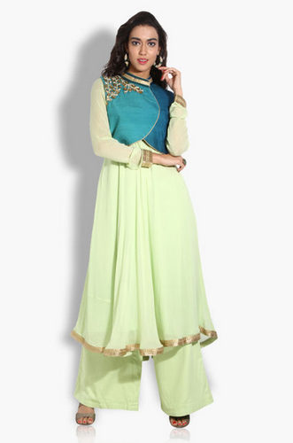 f4ac139185 Kurta Suits And Anarkalis - Crop Jacket And Anarkali Suits Service ...