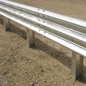 Metal Crash Barrier - Galvanized