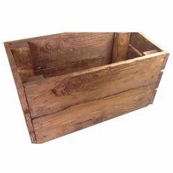 Rubber Wood Rectangular Wooden Pallet Box