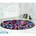 Multicolor Special Cotton Floor Rug
