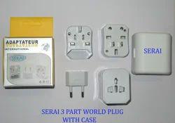 Serai Universal Travel Adaptor 3 Part With Case