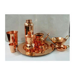 Copper Yoga Set with Copper Plate