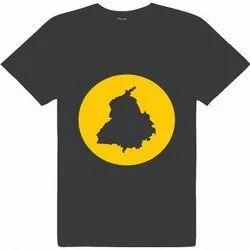 Mens Customized Round Neck T-Shirt