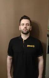 Plain Hosiery Mens Collar T Shirts