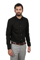 Vlmsc-pbla07 Men Shirt Vida Loca Black Color Plain Cotton Shirt For Men, Size: 36, 300 Gm