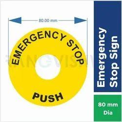 PVC Waterproof Emergency Stop Sticker for Door