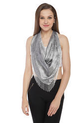Digital Printed Scarves with Beaded Fringes