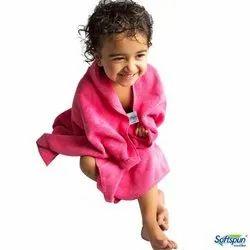 Plain Softspun Microfiber Baby Bath Towel, Size: 60*120 Cm