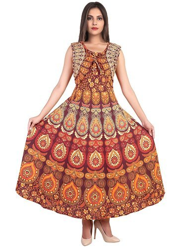 73aa77fcb5 Printed Multi Colour Jaipuri Koti Dress, Rs 215 /piece, Star Product ...