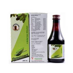 Hepatoset HERBAL LIVER TONIC, 200 Ml, Packaging Type: Bottle