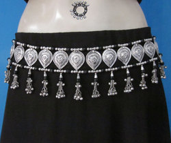 Tribal Tie Belt Handmade Fringe Tassel Belly dance Jewelry