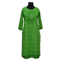 Ladies 3/4th Sleeve Double Layer Long Kurti