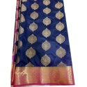 Party Wear Printed Copper Butta Silk Saree, 6.3 M