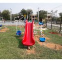 Playground Slide With Seesaw and Swing