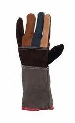 Full Finger Leather Hand Gloves, For Industrial