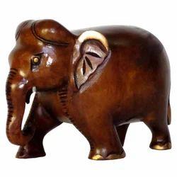 Wooden Carving Black Finishing Elephant