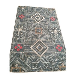 Printed Rectangular Handmade Floor Carpet, Size: 5 X 8 feet