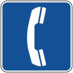Public Telephone Sign Board