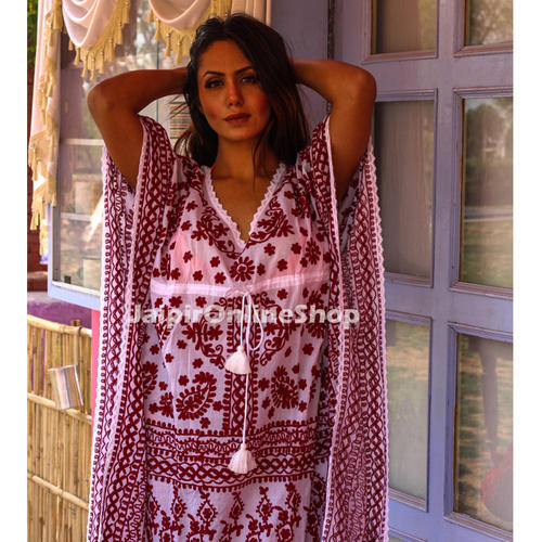 Hot Sale Cotton Kaftans Beach Cover Up For Women
