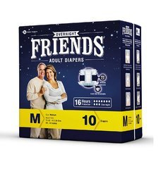 Friends Overnight Adult Diapers Medium (16 Hours Protection)
