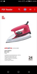 Power(Watt): 750 Aero Nova Light Weight Dry Iron, Warranty: 2 Years