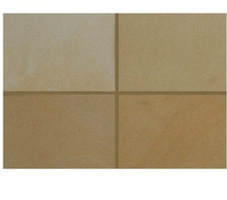 Peach Yellow Sandstone - Honed Finish, For Flooring