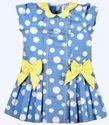 Beanie Bugs Kids Blue Dotted Dress
