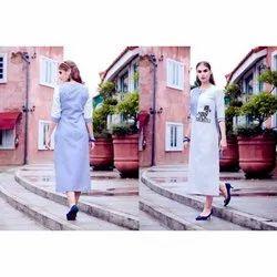 Ladies Western Printed Dress