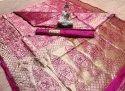 Designer Jacquard Saree With Blouse