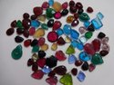 Sky Stone Synthetic, Glass Fancy Shape Carving, Carved  Calibrated Loose Gemstone Pairing Set