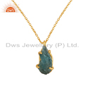 Apatite Gemstone Gold Plated Silver Chain Pendant Jewelry